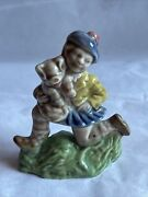 """Vintage Wade Whimsy Large 2.5"""" Nursery Rhyme Figurines 1970's Tom The Pipers Son"""