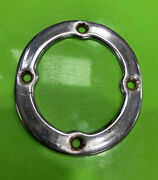 Mg Mgb Chrome Console Gear Shift Boot Cover Retainer Ring Rim 68 - 80