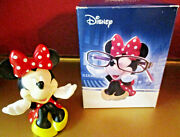Disney Collectible Westland Giftware Eyeglass Holder With Minnie Mouse Figurine