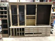 Early 1900's Antique 8' Country Store Cabinet Shelves Drawers Storage Collection
