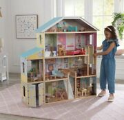 Kidkraft Majestic Mansion Dollhouse, Wooden With Furniture Included. P/up In Ma