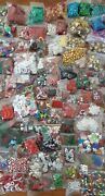 Lot Of 210 Bags Of Christmas Charms Embellishments Jewelry Crafts Buttons Beads