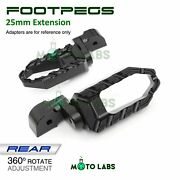 Passenger Rear Foot Pegs 25mm Extension Fit Buell X1 Lightning S1 M2 Cyclone