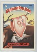 1986 Topps Garbage Pail Kids Series 5 Surreal Neal One Star Back 196b.1 2f4