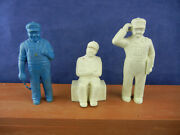 1950s Marx Freight Terminal Station 60mm Figures 3 Different Poses