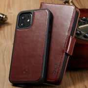 Leather Card Holder Wallet Magnetic Cover For Iphone 12 11 Pro Max Case Mini