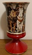 """Italian Wine Goblet Pottery 6"""" High, A Hand Made In Italy."""