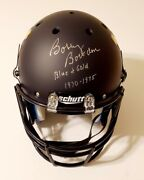Bobby Bowden Signed Wvu West Virginia Full Size Helmet W/gold And Blue 70-75 - Jsa