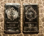 10 Oz Silver .999 Fine Scottsdale, Two Bars, 20 Oz. Sequential Numbers