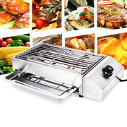 Electric Barbecue Grill Teppanyaki Stainless Steel Griddle Bbq Indoor / Outdoor