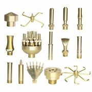 15types Of Fountain Nozzles Brass Sprinklers Garden Pond Rotating Copper Nozzles