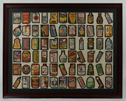 1979 Topps Chewing Gum 26x 34 Wacky Packages Complete Set / Uncut Sheet Framed