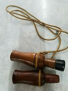 Vintage Lohman Wooden Duck Call And Cajun G-205 Goose Call