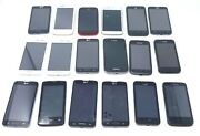 Lot Of 18 Various Cosmetically Good Android Smartphones - As-is For Parts