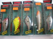 Rapala Trolls To 15 Ft Tts-15 And Ttm-15 Lot Of 5 Lures All New In Box