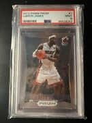 2012 Lebron James First Prizm Card Ever 1 Psa 9 Mint Miami Heat Lakers