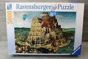 Ravensburger Puzzle 5000 Piece 174232 Tower Of Babel 40 X 60 Inches Preowned