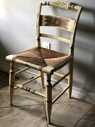 Genuine Hitchcock Chair Ethan Allen Harvest Ivory And Gold -beautiful