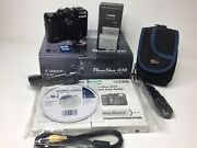Canon Powershot G10 Digital Camera With 2 Batteries, Charger And 2g Sd Card
