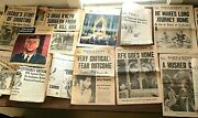 Lot Of 27 Vintage 1960s Jfk And Rfk And Mlk Newspapers And Dozens Of Articles