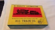 Ho Scale Ghc 0-4-0 Camel Back Steam Engine, Baltimore And Ohio Black Japan Vintage