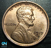 1917 D Lincoln Cent Wheat Penny -- Make Us An Offer K4482