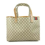 Previously Owned Tote Bag Women And039s Brown Beige Gg Plus Razor No.9868