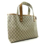 Previously Owned Tote Bag Women And039s Brown Beige Gg Plus Razor No.720