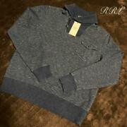 Sale Rrl Sweat Collared Knit Navy From Japan Fedex No.1933