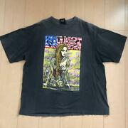 Red Hot Chili Peppers T-shirt Made In 1992 Size Xl Black Good Condition Rare