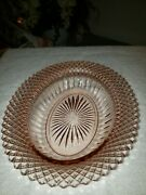 Anchor Hocking And039miss Americaand039 Pink Depression Glass Oval Serving Dish