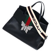 Pre-owned 500772 213317 Totem Sherry Handbag Black Leather Free Shipping
