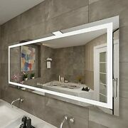 Maihauz Dimmable Touch Switch Wall Mounted 72x30 Inch Led Lighted Bathroom Mi...