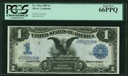 1899 1 Silver Certificate Black Eagle Fr-226a Pcgs Certified Uncirculated-66ppq