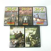 Lot Of 5 Hunting Dvds Goose Hunting Monster Bucks 24-7 Waterfowl Geese Zink Call