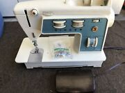 Vtg Blue Singer Touch And Sew Sewing Machine Special Zig Zag Model 756 - Parts