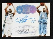 2014-15 Panini Flawless Now And Then Signatures /20 Vince Carter Nt-vc Auto