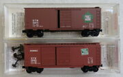 Micro-trains - 2 Different Grand Trunk Western Boxcars - N Scale
