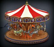 Mr. Christmas Gold Label World's Fair Carousel Almost Perfect Read
