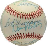 500 Home Run Club Signed Vintage Toned Baseball With 12 Sigs - Psa V14213