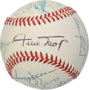500 Home Run Club Signed Vintage Toned Baseball With 12 Sigs - Psa V14199
