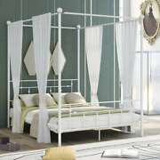 Queen Size Metal Canopy Beds With Headboard Bed Frame For Kids Adult Us