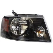 Headlight For 2006 2007 2008 Ford F-150 Right Black Housing With Bulb Capa