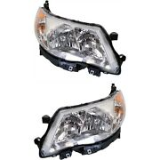 Headlight Set For 2009-2013 Subaru Forester Left And Right Hid With Bulb 2pc