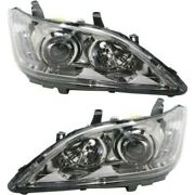 Headlight Set For 2010-2011 Lexus Es350 Left And Right Hid 2pc