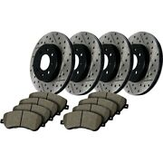 935.34060 Stoptech New 4-wheel Set Front And Rear For 528 Bmw 528i Xdrive 12-14