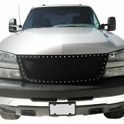 For Chevy Silverado 1500 06 Status Grilles 1-pc Blue Mesh Main Grille