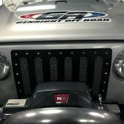 For Jeep Wrangler 97-06 Status Grilles 1-pc White Mesh Main Grille
