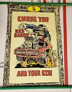 1969 Ed Big Daddy Roth Maywood Itchings Poster Curse You Red Baron And Your Gto