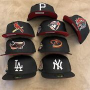 Hat Club Exclusive Luis V Red Bottom Brim Uv New Era 59fifty Fitted Mlb Pin